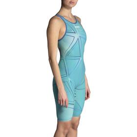 arena R-EVO ONE Full Body Short Leg Open Back Suit LTD Edition 2019 Women, blue glass